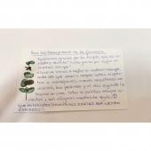 Cartas de clientes que nos mandan y nos emocionan !!! Gracias y mil gracias 🤩